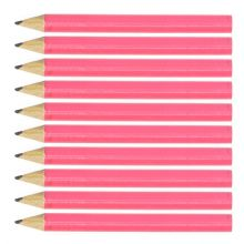 Pink Round Wooden Mini Half Golf Pencils